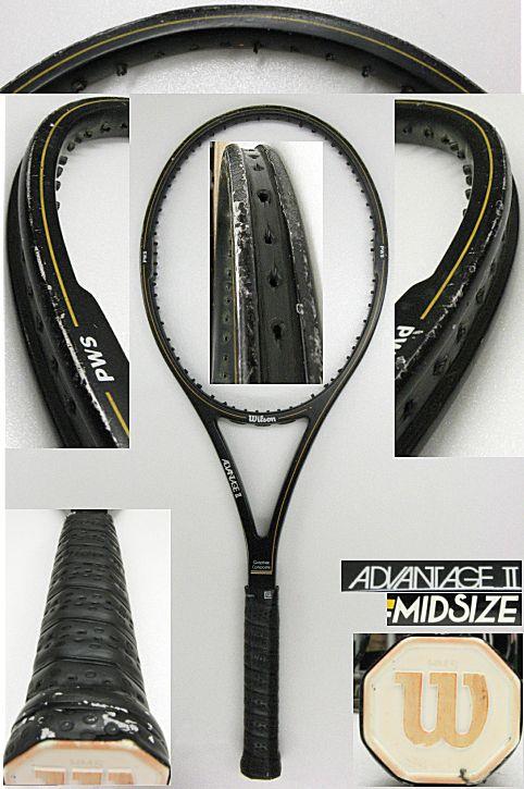 【中古テニスラケット】ウイルソン アドバンテージⅡミッドサイズ ADVANTAGEⅡ MIDSIZE