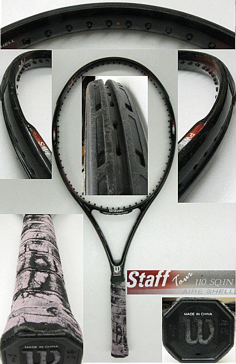 【中古テニスラケット】ウイルソン スタッフツアー110 エアシェル Staff TOUR110 AIRE SHELL