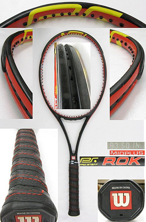 【中古テニスラケット】ウイルソン プロスタッフ ロック ミッドプラス Prostaff ROK MIDPLUS