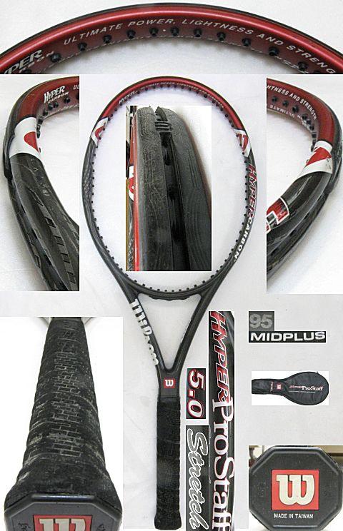 【中古テニスラケット】ウイルソン ハイパープロスタッフ5.0 ストレッチ ミッドプラス HYPER Prostaff 5.0 Stretch
