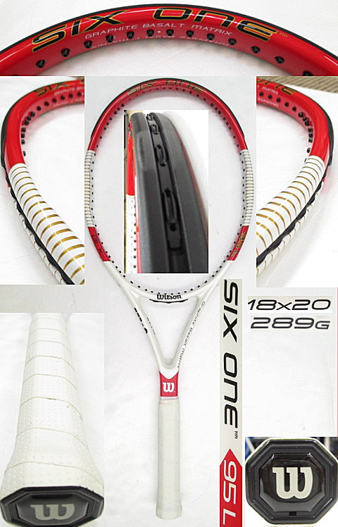 【中古 テニスラケット】 W0793 ウイルソン SIX.ONE 95L (18×20)海外モデル