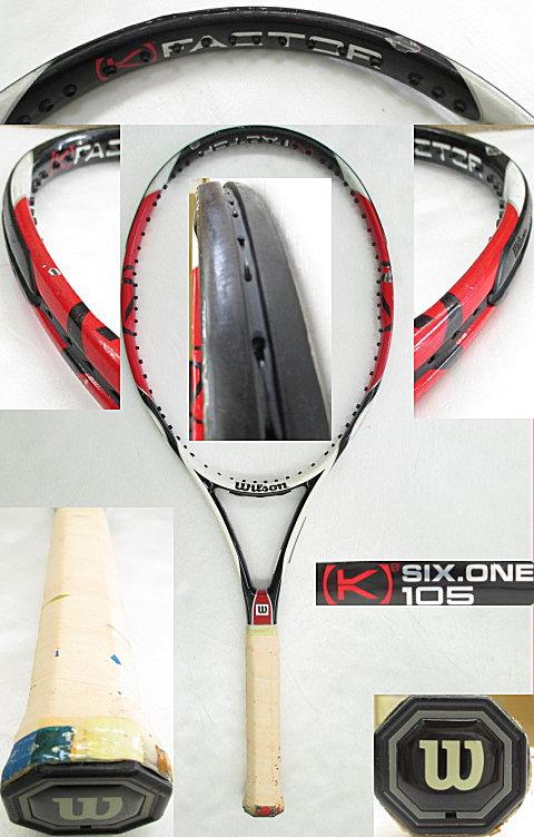 【中古 テニスラケット】 W0817 ウイルソン [K]SIX-ONE105