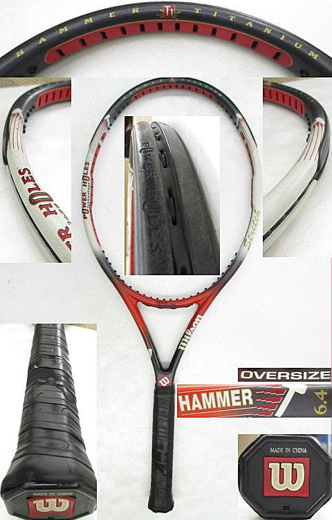 【中古 テニスラケット】 W0822 ウイルソン ハンマー6.4ストレッチ パワーホール