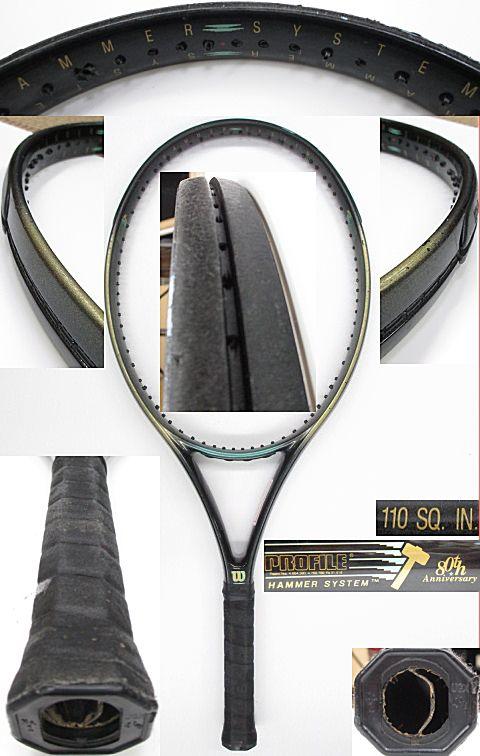 【中古 テニスラケット】 W0833 ウイルソン プロファイル 80thアニバーサリーモデル