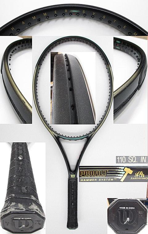 【中古 テニスラケット】 W0834 ウイルソン プロファイル 80thアニバーサリーモデル