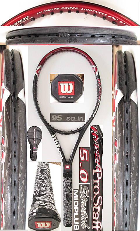 【中古 テニスラケット】 W0940 ウイルソン ハイパープロスタッフ5.0ストレッチMP