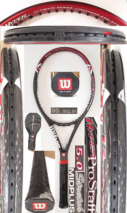 【中古 テニスラケット】 W0941 ウイルソン ハイパープロスタッフ5.0ストレッチMP