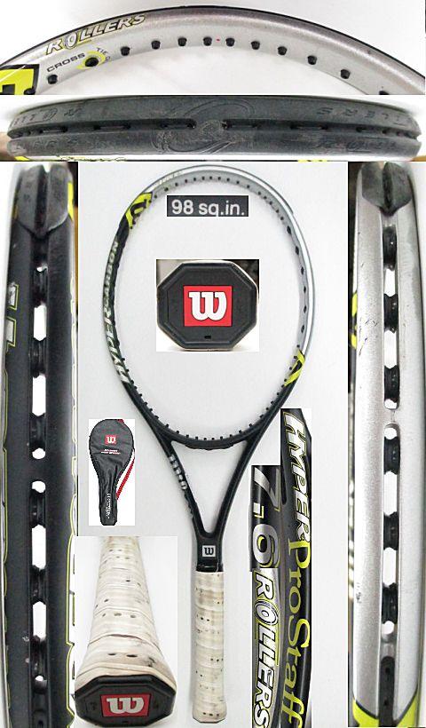 【中古 テニスラケット】 W0962 ウイルソン ハイパープロスタッフ 7.6ローラー