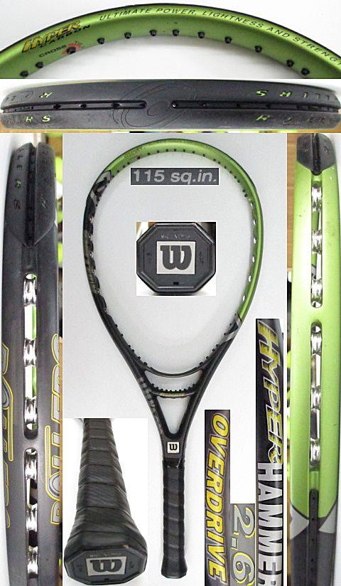 【中古 テニスラケット】W1027 ウイルソン ハイパーハンマー2.6 オーバードライブ