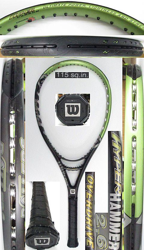 【中古 テニスラケット】W1028 ウイルソン ハイパーハンマー2.6 オーバードライブ