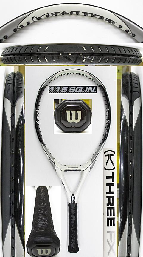 【中古 テニスラケット】W1079 ウイルソン [K]THREE FX115