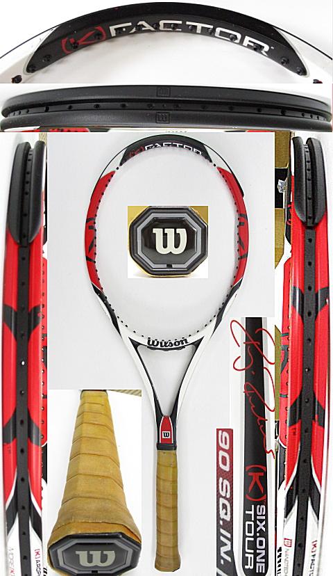 【中古 テニスラケット】W1081 ウイルソン [K]SIX-ONEツアー