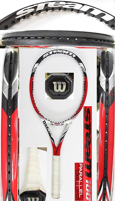 【中古 テニスラケット】W1086 ウイルソン スチーム100