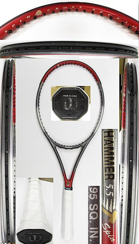【中古 テニスラケット】W1090 ウイルソン ハンマー5.5スピン