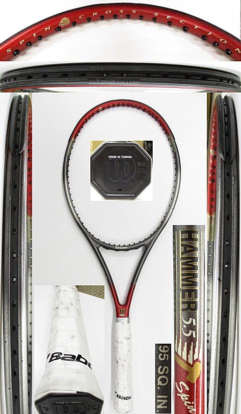 【中古 テニスラケット】W1092 ウイルソン ハンマー5.5スピン