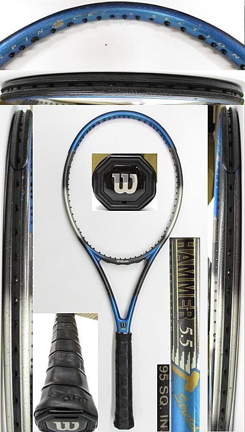 【中古 テニスラケット】W1095 ウイルソン ハンマー5.5ストレッチ