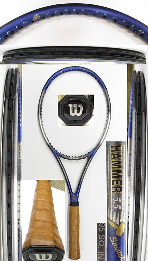 【中古 テニスラケット】W1096 ウイルソン ハンマー5.5ストレッチ