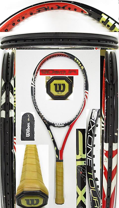 【中古 テニスラケット】W1122 ウイルソン SIX.ONEツアーBLX