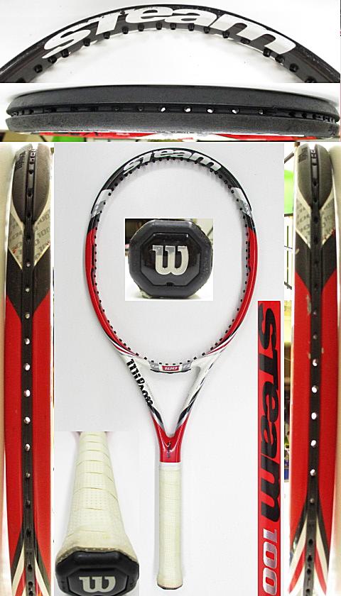 【中古 テニスラケット】W1137 ウイルソン スチーム100(2014年モデル)