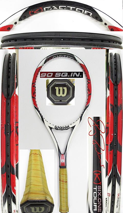 【中古 テニスラケット】W1139 ウイルソン [K]SIX-ONEツアー