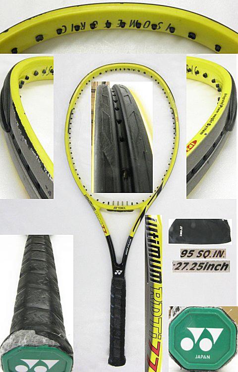 【中古テニスラケット】ヨネックス アルティマム RDTi77 イエロー ミッドプラス ULTIMUM RD Ti77 MIDPLUS