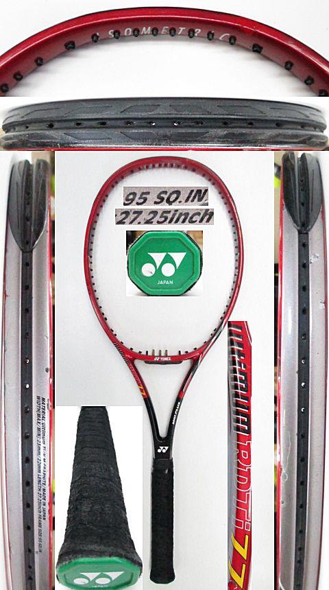 【中古 テニスラケット】Y0635 ヨネックス RDTi77MP(赤)