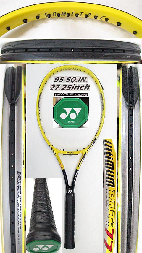 【中古 テニスラケット】Y0636 ヨネックス RDTi77MP(黄)